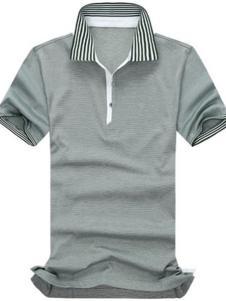 A.MOLUOJIA灰色條紋T恤
