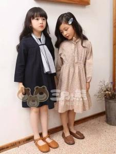 三只小熊童装女童韩版连衣裙