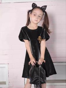 米6童装黑色淑女连衣裙