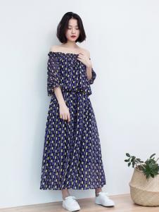 LIULIU MO刘刘墨一字肩连衣裙