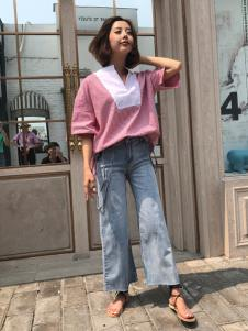 百变伊伊欧韩女装18红色衬衫