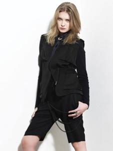 汤保伊TOMBOY女装黑色休闲外套
