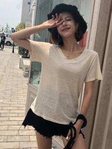 百变伊伊欧韩女装夏薄款T恤