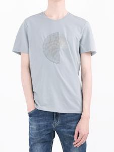 凯施迪男装灰色休闲T恤
