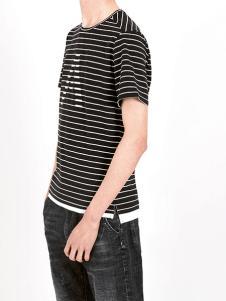 凯施迪男装条纹T恤