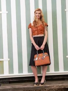 Vertdula棕色淑女手提包