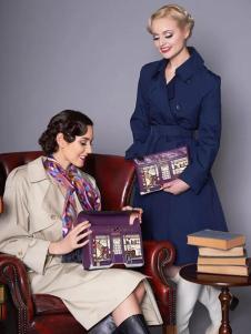 Vertdula紫色优雅手提包