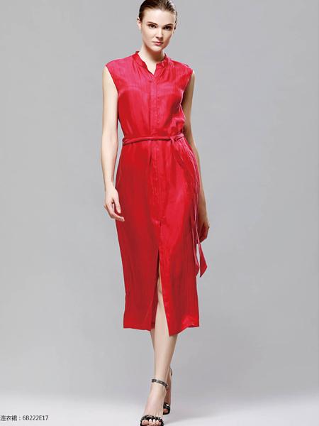 2018imili艺梦来红色连衣裙