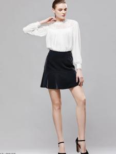 imili艺梦来18白色长袖衬衫