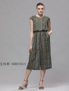 2018imili艺梦来夏条纹长裙