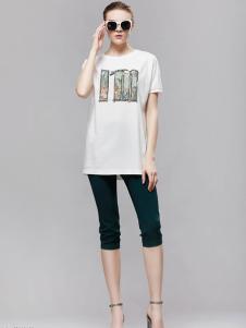 2018imili艺梦来白色印花T恤