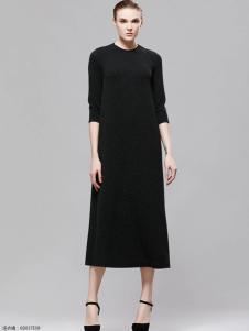 2018imili艺梦来黑色优雅长裙