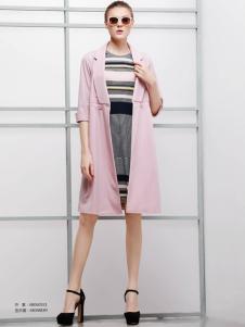 imili艺梦来18粉色开衫外套