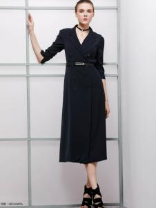 imili艺梦来18黑色高级连衣裙