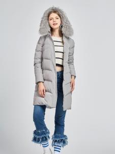 雪中飞女士中长款羽绒服