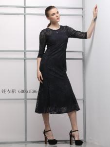imili艺梦来18黑色蕾丝裙