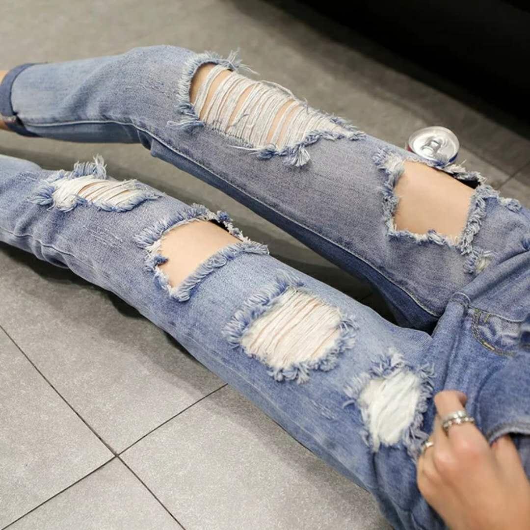 时尚破洞女式牛仔短裤批发女装批发