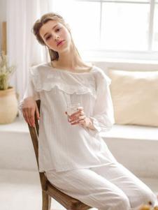 EWARERA白色清新睡衣套装