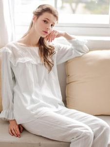 EWARERA白色淑女睡衣套装