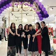 热烈祝贺优雅艺术轻奢ECA女装山东蓬莱利群店盛大开业!