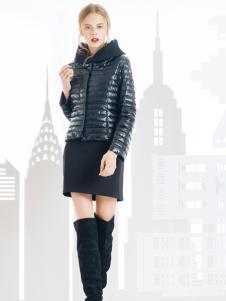 SNOWMAN NEW YORK羽绒服黑色修身