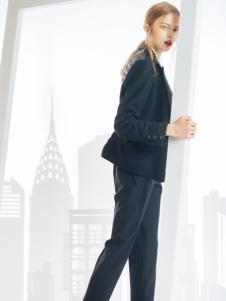 SNOWMAN NEW YORK羽绒服黑色短款