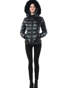 SNOWMAN NEW YORK经典黑色羽绒服