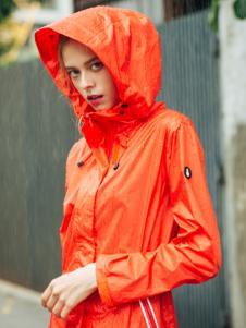 雪人女装橙黄色风衣