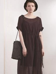 必然女装时尚雪纺连衣裙