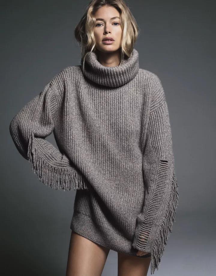 时尚女式羊毛衫加工女装加工