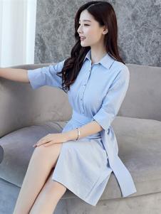 海爱依仁女装浅蓝色衬衫