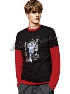愛迪丹頓新款拼接T恤