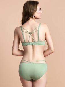 奥丽侬新款浅绿色美背内衣
