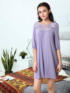 奥丽侬浅紫色睡裙
