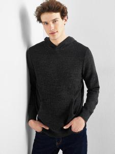 IAA男装黑色休闲针织衫