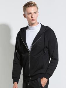 IAA男装黑色休闲外套