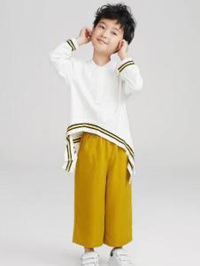 Pillopop童装白色不规则T恤