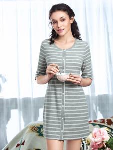 奥丽侬新款条纹纯棉家居服