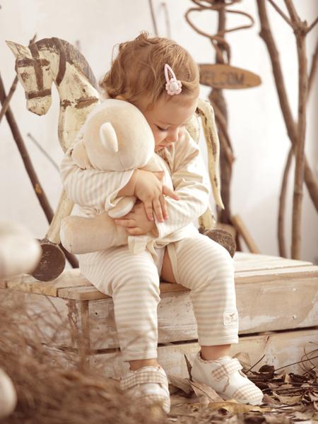 本色棉婴幼儿套装新款