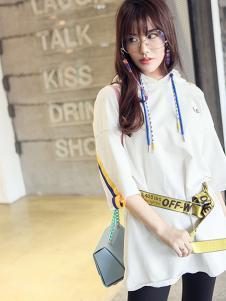 N-one女装白色五分袖外套