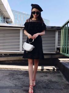 美兰娇丽女装小黑裙