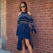今夏最流行的不规则裙子,让你懒着变美,莎斯莱思让你轻松的增添时髦感