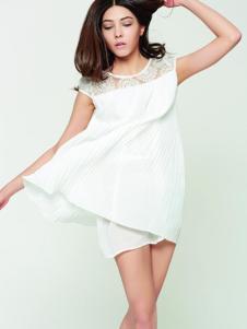 米摩女装白色蕾丝T恤