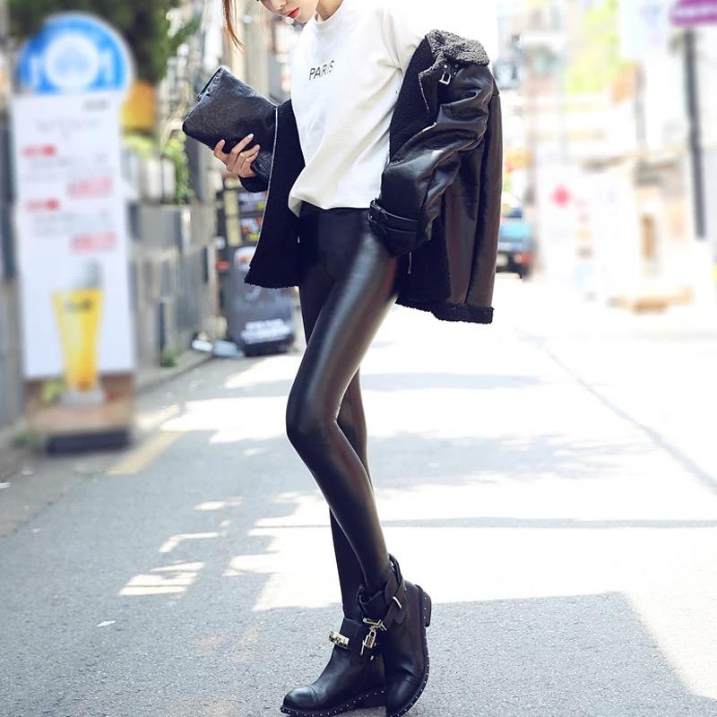 时尚修身女式皮裤批发女装批发