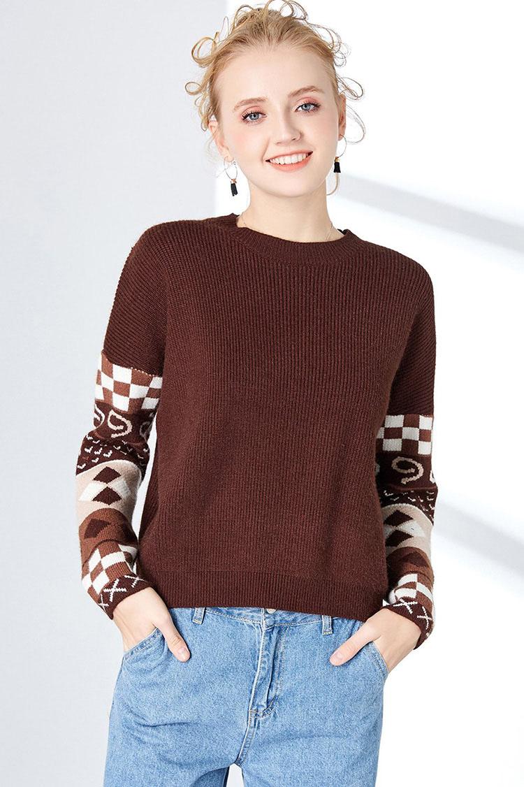 时尚潮流女式毛衣加工女装加工