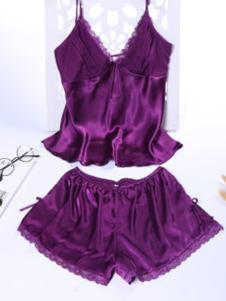 珈兰朵内衣紫色高贵睡衣