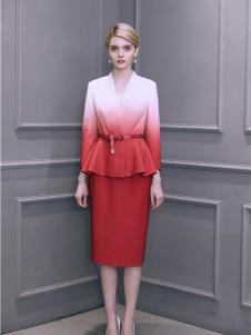 盖娅传说女装渐变红色套装