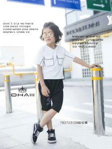 东宫皇子童装白色甜美T恤
