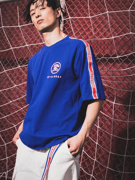 JASONWOOD个性服饰新品蓝色休闲男士T恤