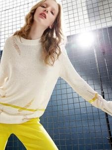 chaurising女装白色薄款针织